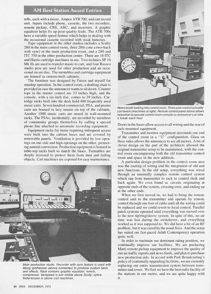 62 WHEN Radio - SYRACUSE, NY - Best Station Award Nominations - BM/E Magazine 1979