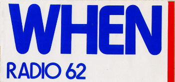 62 WHEN Bumper Sticker