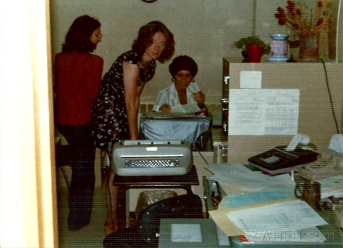 Early 70s Radio In Syracuse - Kathy Mindy and Audrey Wilkes In Station's Traffic Department - 980 James St