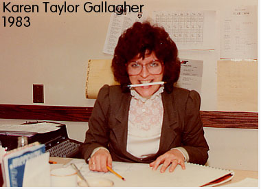Karen Taylor Gallagher - Secretary to Bob Carolin - 62 WHEN radio -  1983