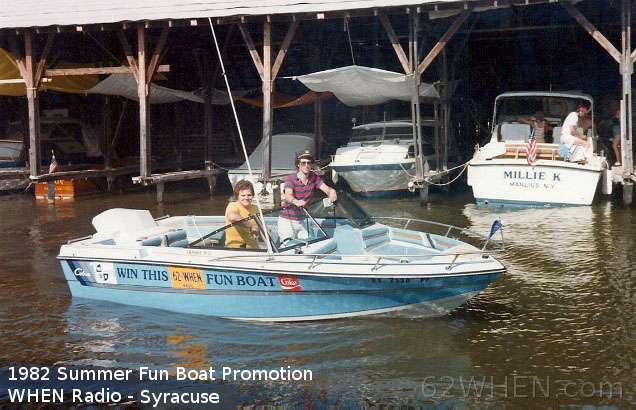 WHEN Radio Fun Boat Giveaway - Syracuse - 1982